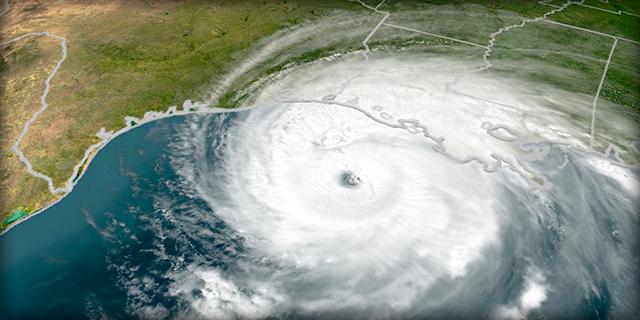 View from above hurricane Rita