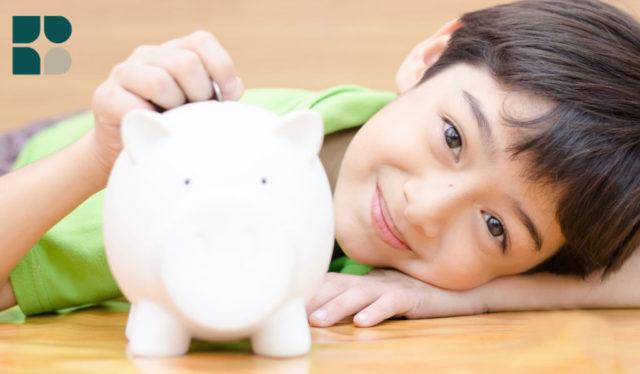 Young Boy Saving His Money