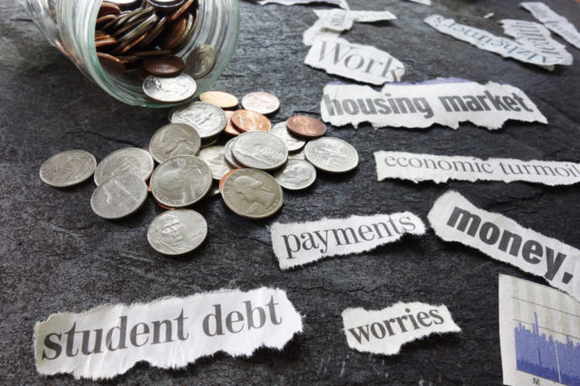 young professionals in debt