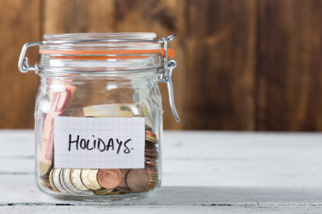 saving for the holidays